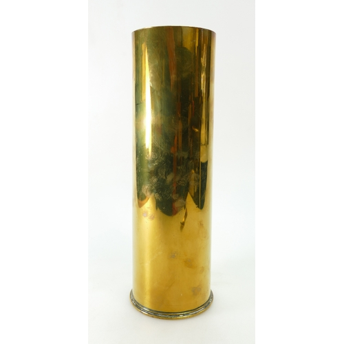 819 - Brass 4'' Naval Shell case marked 1916, 18 Pr II, 29-9-16 and FVU 29.5cm in height....