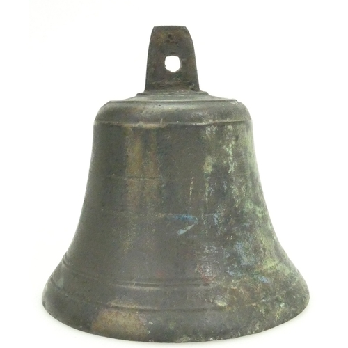 822 - Early 20th century brass bell (height 20cm)...