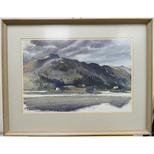 839 - Reginald George Haggar (1905-1988), watercolour painting of ''Silver How'' Grasmere in wood frame, 5...