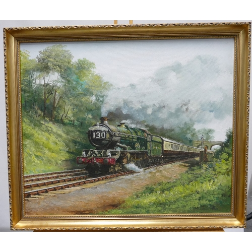 850 - Alan King of Malvern - Signed Akin (his usual signature) Oil on board titled 'Great Western Railway'...