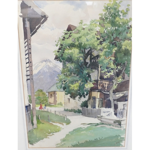 854 - John Chirnside watercolour titled 'Stettnerhof Igls Tryol Austria' signed Chirnside 53 x 37cm....