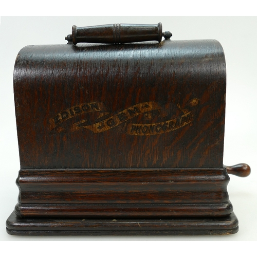 874 - Cased Edison Little Gem Phonograph, no horn present...