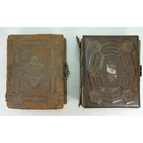 879 - Two Victorian Musical Photo Albums, both a/f, CPG & Company movement in one....