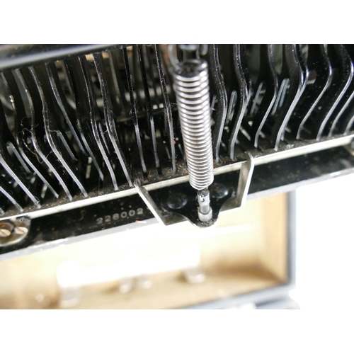 881 - Cased Corona 3 Folding Typewriter...