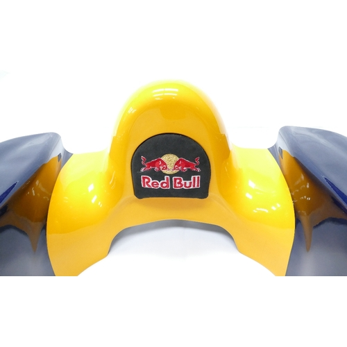 916 - Red Bull Racing F1 headrest RB04 was used in the 2008 F1 season. Webber, Coulthard & Klein as test d...