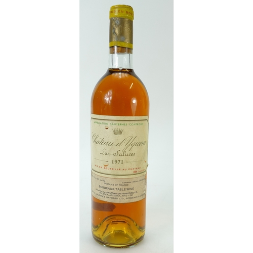 943 - 1971 Chateau d'yquem lur-saluces Bordeaux table wine, 730ml...