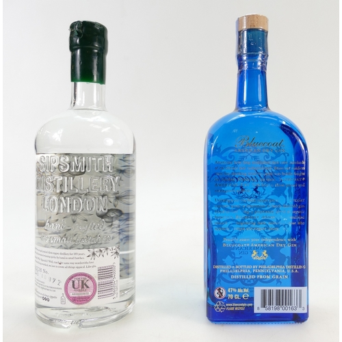 953 - Sipsmith London Dry Gin and Blue Coat American Dry Gin (2)...