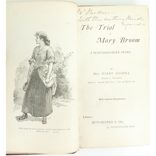 954 - Antique BOOK by Mrs Harry Coghill - The Trial of Mary Broom - 5 wood engraved plates. A 1st edition ...