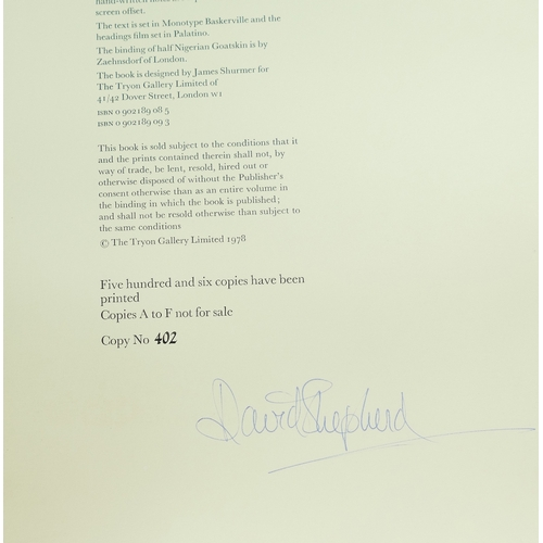 958 - David Shepherd Hand Signed Limited Edition book Paintings of Africa & India  #402 of 506 - Oblong 50...