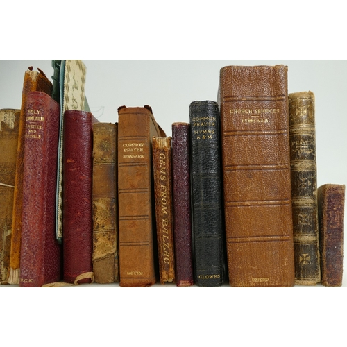 959 - A collection of hardbacked miniature 19th century books including Cowpers Poems, Miltons Poetical Wo...