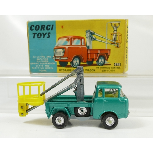 989 - Corgi 478 Green Hydraulic Tower Wagon in mint condition and in original good condition box. With ori...