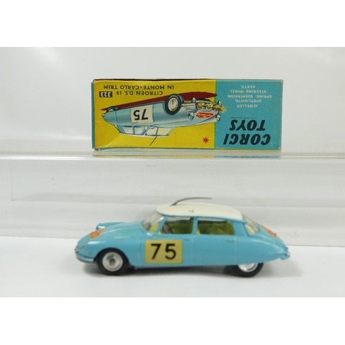 993 - Corgi No.323 Aqua Citroen DS19 in Monte Carlo Trim.  Near mint condition with one small scratch to r...