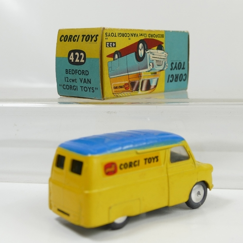 994 - Corgi 422 Yellow Bedford Van in near mint condition and in original good+  condition box....
