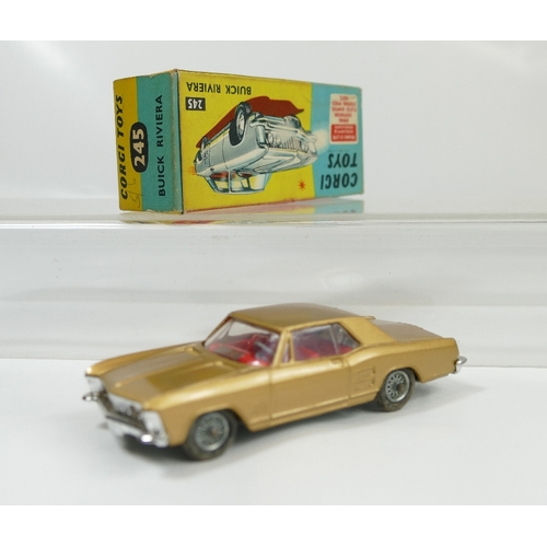 995 - Corgi 245 Gold Buick Riviera in near mint condition and in original good to excellent condition box....