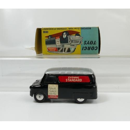 1002 - Corgi 421 Bedford 12 Cwt Van Evening Standard in mint condition and in original fair to good conditi...