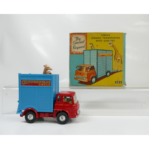 1014 - Corgi 503 Giraffe Transporter in near mint to mint condition and in good to excellent box. Complete ...