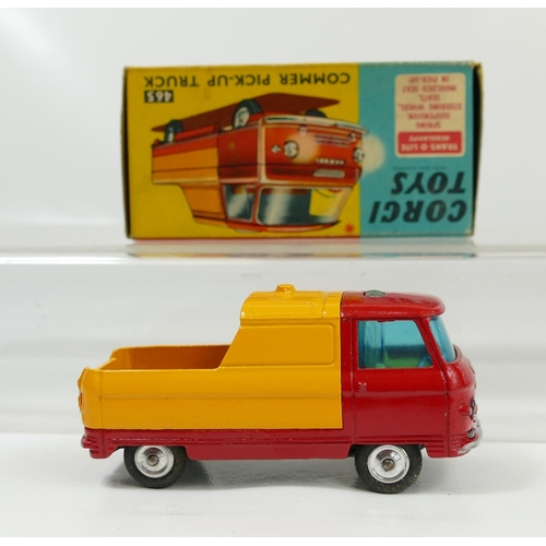 1021 - Corgi 465 Red and Orange Commer Pick up Truck in near mint condition and in original excellent condi...