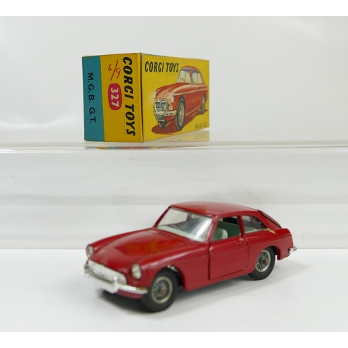 1027 - Corgi 327 M.G.B. G.T in good condition and in good condition original box....