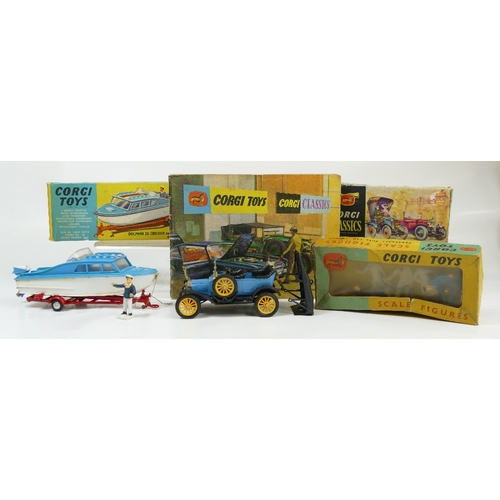 1046 - Corgi 1505 6 garage attendants in near mint condition and in original fair condition box. Corgi 104 ...