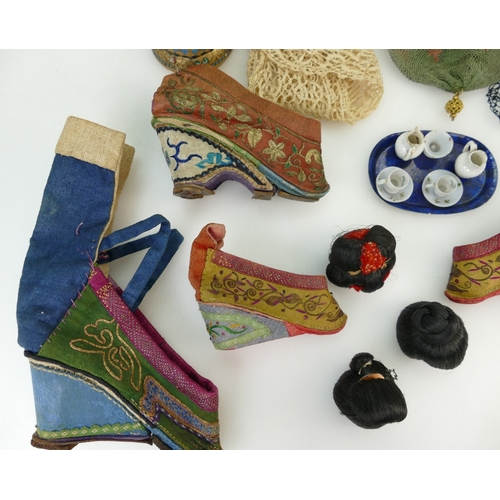 1061 - Japanese embroidered ladies Shoes and other misc. items....