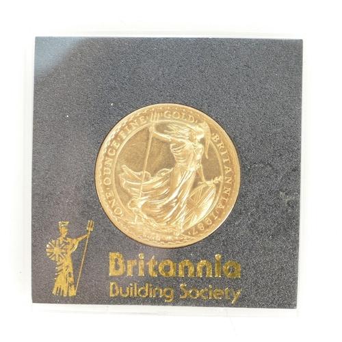 1193 - Britannia £100 one ounce fine gold coin 1987 in original case....