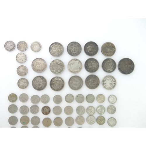 1199 - Group of pre 1920 George III and Victorian silver coinage includes, Crowns x 8, Double florin x 1, H...
