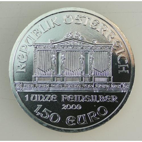 1200A - 20 Austrian Silver 1oz coins, Weiner Philharmoniker ex mint. (20)...