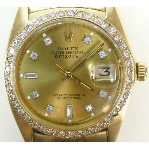 1206 - ROLEX OYSTER PERPETUAL DATEJUST SUPERLATIVE CHRONOMETER OFFICIALLY CERTIFIED. 34mm across excluding ...