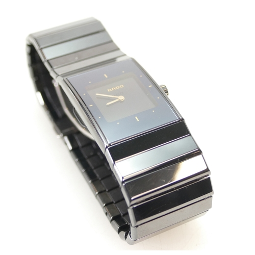 1207 - Rado Diastar Gents WRISTWATCH 196.0364.3 ceramic 01867992 to reverse, with high-tech ceramics bracel...
