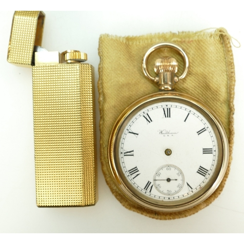 1212 - Small group of watches and collectables including gold plated ladies Omega watch in ticking order, l...