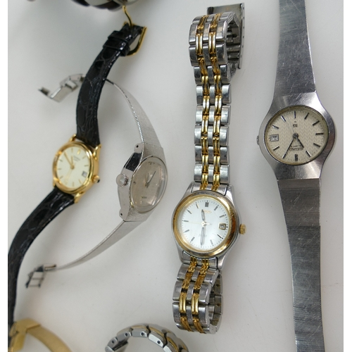 1215 - A collection of Ladies (6) and Gents (1) WATCHES by SEIKO x 4, DIESEL, Citizen and Sekonda....