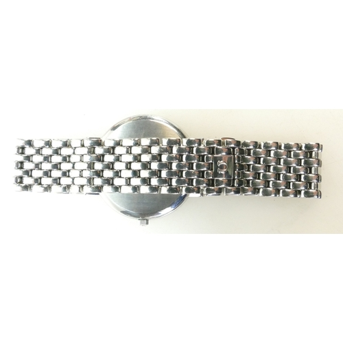 1215A - Omega Deville quartz Gentlemans stainless steel Wristwatch and bracelet, 1990s with original box....