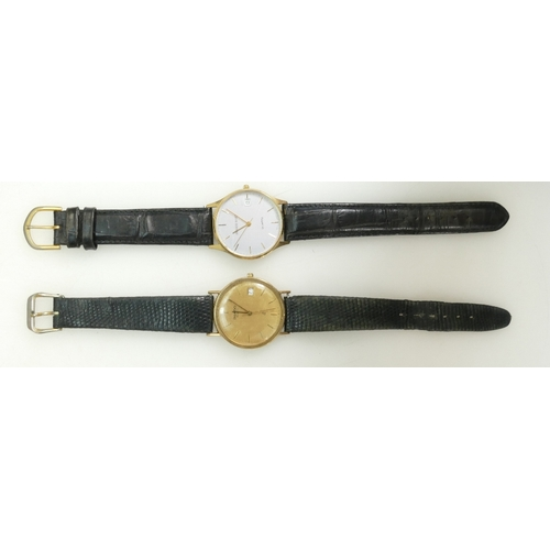 1242 - 9ct Imado Gents Quartz Wristwatch with leather strap, boxed with paperwork and Fraser Hart 9ct gents...