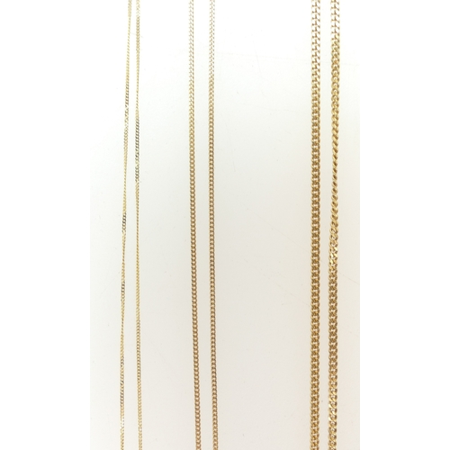1294 - Two 9ct Gold gem set pendants and 9ct Gold neckchains (both 50cm approx.), together with a 9ct trace...