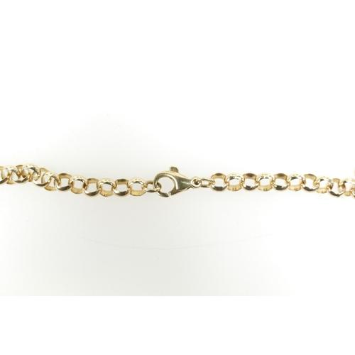 1305 - 9ct gold belcher link NECK CHAIN - 20.3g - 49cm long - width of link 5mm appx....