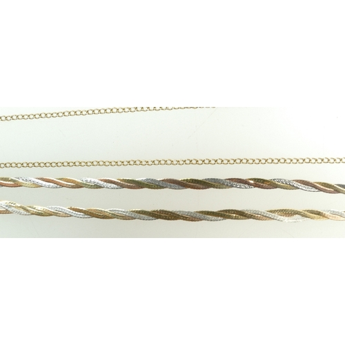 1307 - 9ct Gold modern necklace (a/f), together with a similar 9ct bracelet 9.9g (2)...
