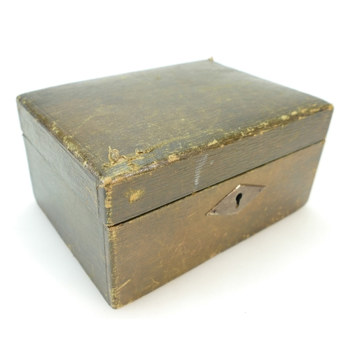 1319 - Jewellery box containing a silver gilt & enamel brooch stamped Sterling Norway H., silver & jade typ...