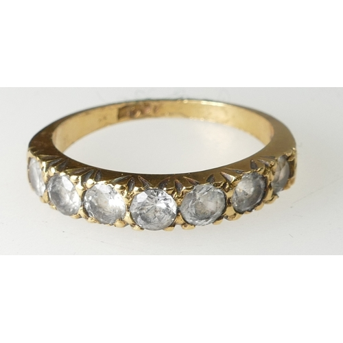 1387 - 18ct five stone Diamond ring, size J, 2.5 grams...