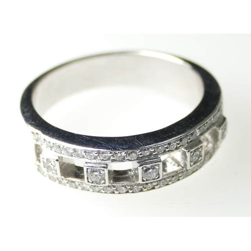 1397 - 14ct White Gold Diamond Ring, size N, 5.8 grams...
