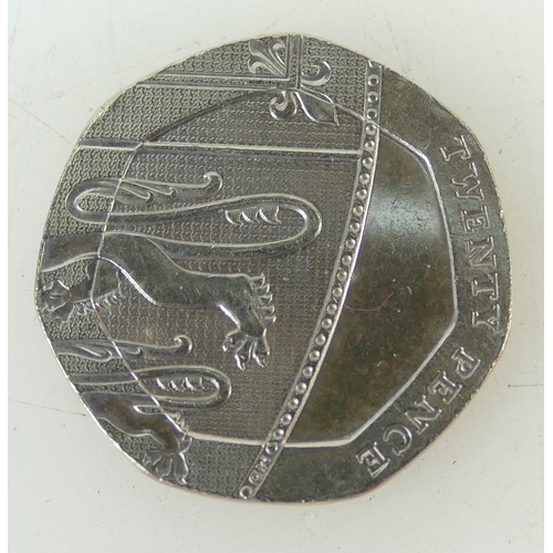 1195A - Rare 20p coin with no date...