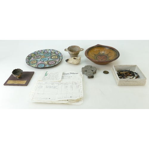 214 - GENUINE ANCIENT ARTIFACTS - an assortment of items all purchased from the Museum Galleries, London, ...