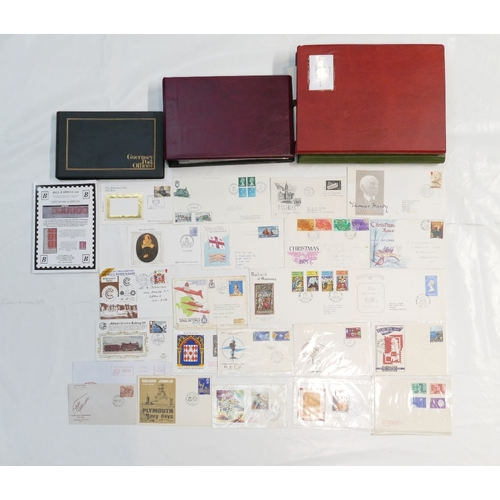 970 - 88 well presented and catalogued First Day Covers and commemorative issues in two albums. Plus an al...