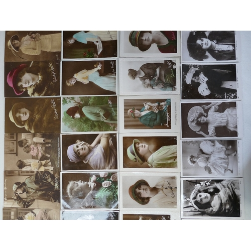 1 - 50 x Gladys Cooper excellent condition postcards, together with 14 RP postcards of TV and stage star...