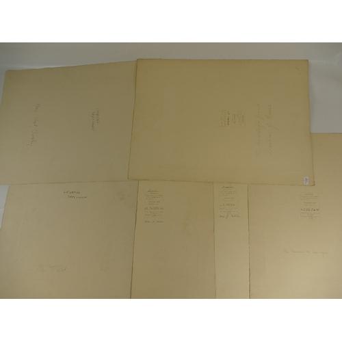 38 - Six LAFAYETTE PHOTOGRAPHS of ladies - photo size not including mount / margin, some bearing Lafayett...