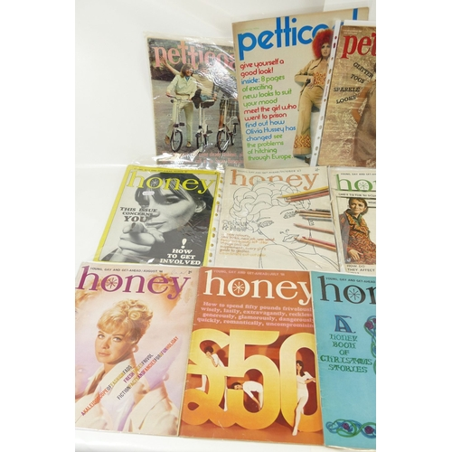161 - 1960's HONEY fashion magazines x 10 together with 4 x Petticoat magazines all 1960's....