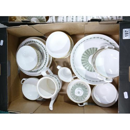 197 - Large quantity Spode Provence pattern Dinner & Teaware - Plates 14 x 10'', 18 x 6'', 12 x 9'' -  bow...