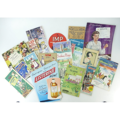 77 - A collection of vintage largely Cosmetic and Household related BROCHURES and LEAFLETS including - Vi...