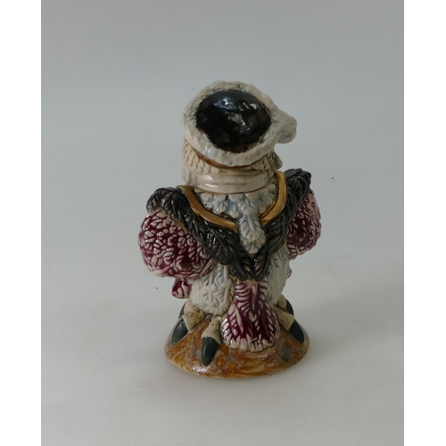 229A - Burslem Pottery Grotesque bird 'King Henry VIII', inspired by Martin Brothers. Height 14cm...