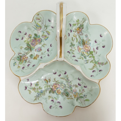 235 - Unmarked floral decorated confectionary dish....