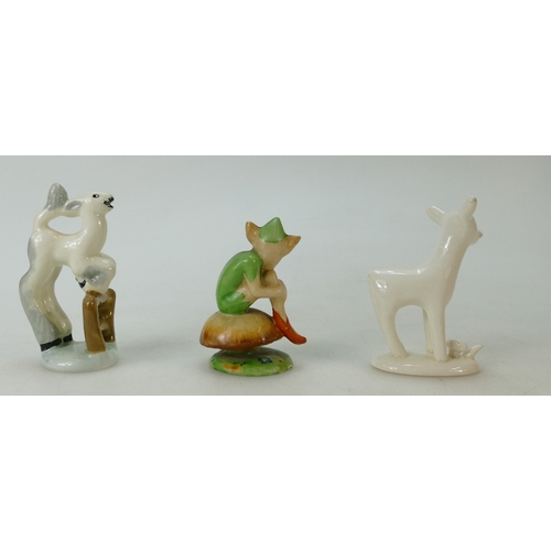 275 - Midwinter figure Lucky Pixie and two models of a lambs (3)...